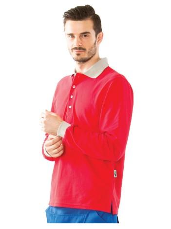 Рубашка ПОЛО с длинным рукавом